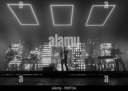 London, UK, 7th March 2016. The 1975 Live Performance at o2 Brixton Academy. © Robert Stainforth/Alamy Live News - Stock Photo