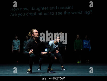 Sadler's Wells Theatre, London, UK. 7th March, 2016. Performance of Golden Hours by Rosas. Credit:  Chantal Guevara/Alamy - Stock Photo
