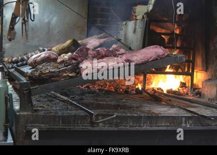 Barbecue prepared in the Port Market - Stock Photo