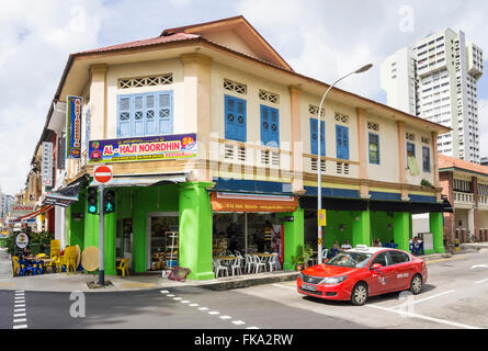 Indian Muslim restaurant along Jalan Besar in Little India, Singapore - Stock Photo