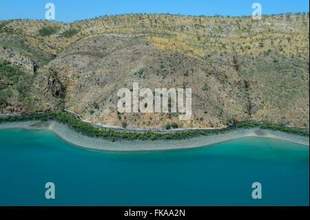 Aerial View of Buccaneer Archipelago, Horizontal Falls, Kimberley Region, Western Australia - Stock Photo