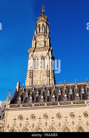 Arras Town Hall on Place des Heros - Stock Photo