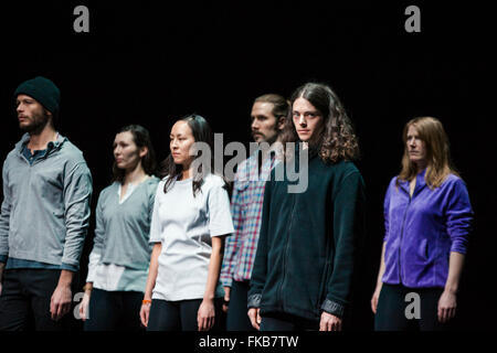 London, UK. 7th March, 2016.  Anne Teresa De Keersmaeker /Rosas present Golden Hours (As You Like It) at Sadler's - Stock Photo
