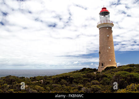 Lighthouse at Cape du Couedic in the Flinders Chase National Park on Kangaroo Island, South Australia, Australia. - Stock Photo