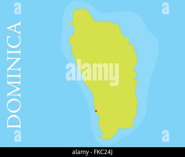 Roseau Dominica Nation Caribbean Sea Windward Island Stock Photo - Map of dominica caribbean sea