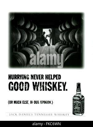1990s USA Jack Daniel's Magazine Advert - Stock Photo