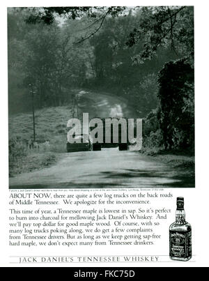 1990s USA Jack Daniel's Magazine Advert - Stock Photo