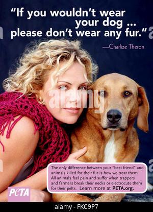 2010s USA PETA Magazine Advert - Stock Photo