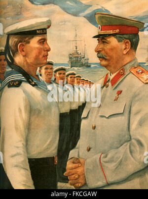 1940s Russia Russian Propaganda Poster - Stock Photo