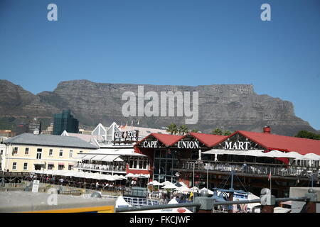 View of the VA waterfront Capetown - Stock Photo