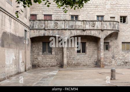 Ancient Hospital de la Santa Creu, El Raval, Barcelona. - Stock Photo