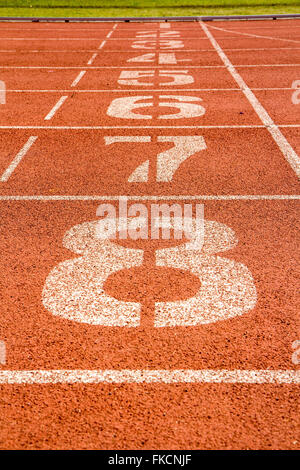 running track with number - Stock Photo