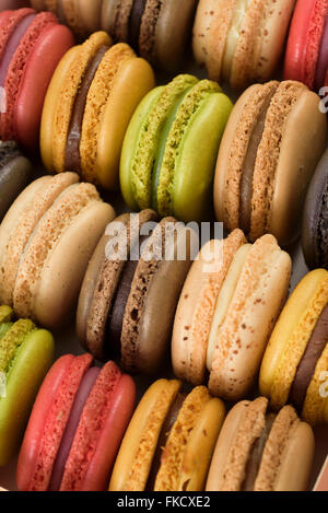 Multi colored macaroons - Stock Photo