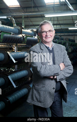 Brian Wilson, Chairman, Shawbost Mill, Isle of Lewis. September 2015 - Stock Photo