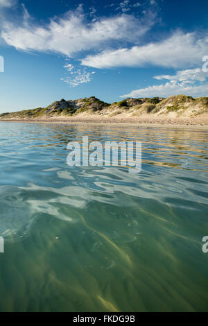 the beach at Port Gregory, West Australia - Stock Photo