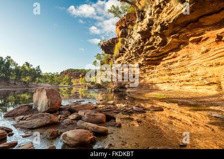 the Murchison River gorge at Ross Graham, Kalbarri National Park, Western Australia - Stock Photo