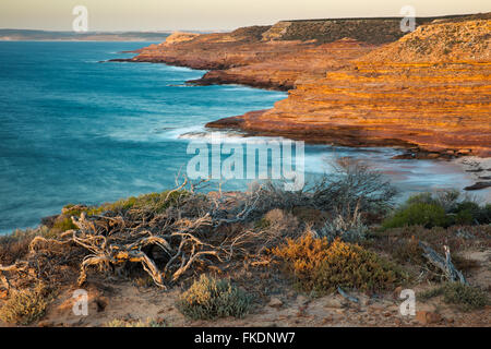 Gantheaume Bay from the Eagle lookout, Kalbarri National Park, Western Australia - Stock Photo