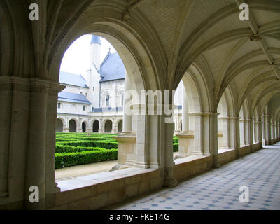 Grand-Moutier Cloister of Fontevraud Abbey. - Stock Photo