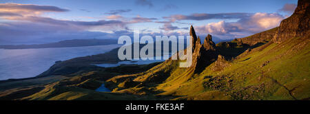 the Old Man of Storr, Trotternish, Isle of Skye, Scotland, UK - Stock Photo