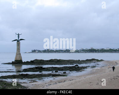 The American Monument commemorating World War l, at Saint Nazaire. - Stock Photo