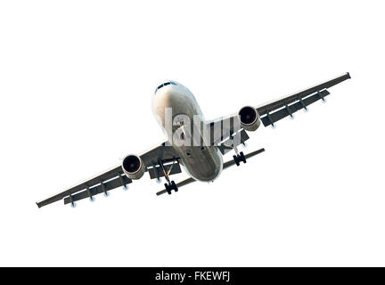 Large Commercial Airplane Isolated On White - Stock Photo