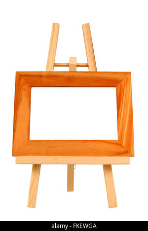 Miniature Wooden Frame Background - Stock Photo