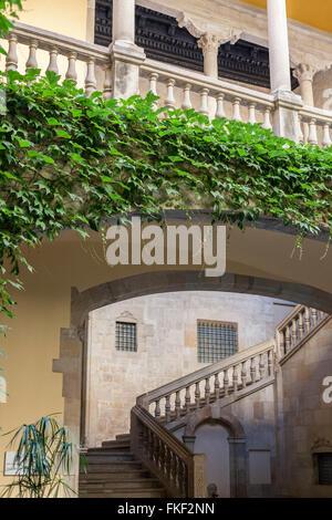 Palau del Lloctinent- Arxiu de la Corona d´Aragó. Barcelona. - Stock Photo