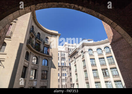 Building facade from Palau Requesens- Reial Academia de bones lletres. Barcelona. - Stock Photo