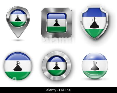Country Flag Bages - Stock Photo