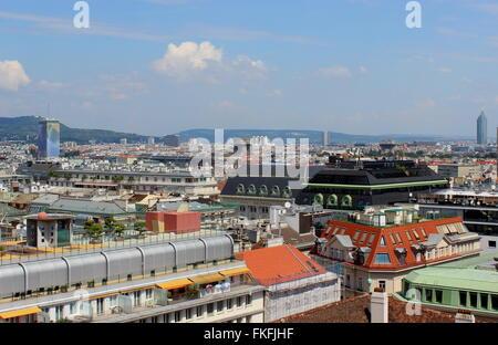 Vienna Aerial cityscape #2 - panoramic, Vienna, Austria - Stock Photo