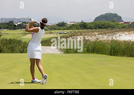 Rio de Janeiro, RJ, Brazil, March 8, 2016: Test Event for the 2016 Olympic Games - Aquece Rio Golf Challenge is - Stock Photo