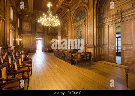 Interior of Stock Exchange Palace in Porto, Portugal. - Stock Photo