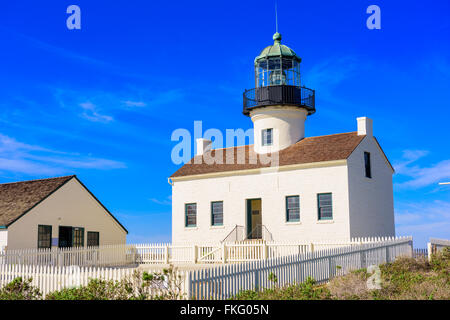 San Diego, California at the Old Loma Point Lighthouse. - Stock Photo