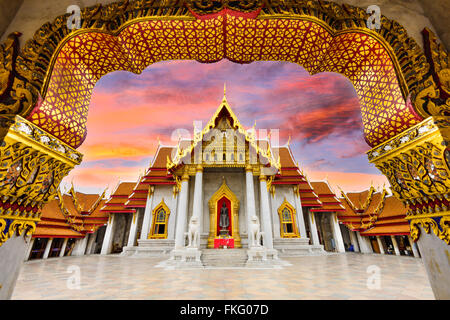 Marble Temple of Bangkok, Thailand. - Stock Photo