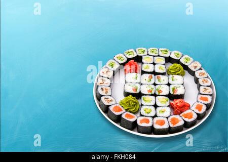 Sushi roll Big set - Stock Photo