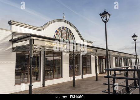 Tea Room Restaurant Cleethorpes Pier Lincolnshire UK - Stock Photo
