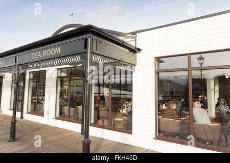 Tea Room Restaurant Cleethorpes Pier Lincolnshire UK - Stock Photo