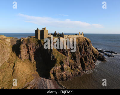 Historic Dunnottar castle near Stonehaven in Aberdeenshire, Scotland, UK - Stock Photo