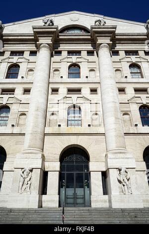 Italy: Italy's main stock exchange 'Borsa Italiana' in ...
