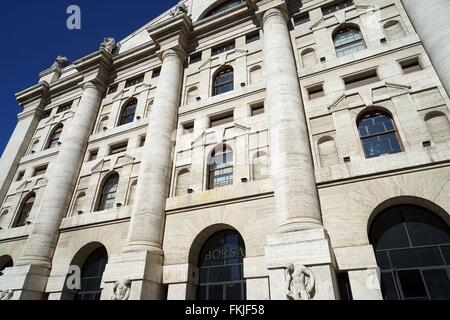 Italy: Italy's main stock exchange 'Borsa Italiana' in Milan. Photo from 03. March 2016. - Stock Photo