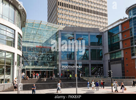 Entrance to the Arndale shopping centre in the city centre. Corporation Street, Manchester, England, UK, Britain. - Stock Photo