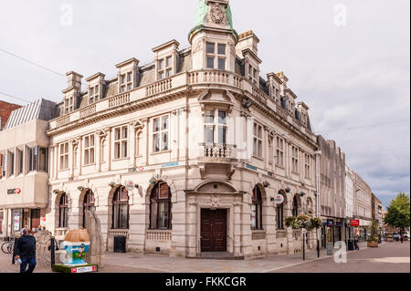 The HSBC bank at Westgate Street in Gloucester , Gloucestershire , England , Britain , Uk - Stock Photo
