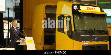 Troisdorf, Germany. 9th March, 2016. Deutsche Post DHL Group, annual news conference, Troisdorf, Germany:  CEO Frank - Stock Photo