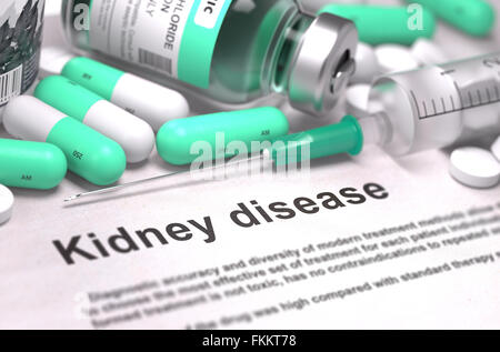 Kidney Disease - Medical Concept. - Stock Photo