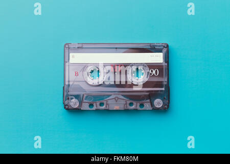 cassette tape on colorful background - Stock Photo