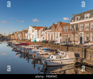 Delfshaven neighbourhood in Rotterdam, Netherlands - Stock Photo