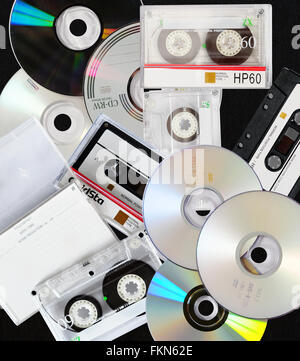 Sound music recording and storage medium suitable for background and banner - Stock Photo