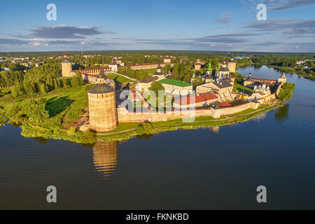 Kirillo-Belozerskiy Monastery Bird-Eye view - Stock Photo