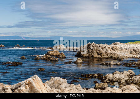 Between Bird Rock and Point Joe, 17 Mile Drive, California, USA - July 1, 2012: The 17 Mile Drive is a scenic road - Stock Photo