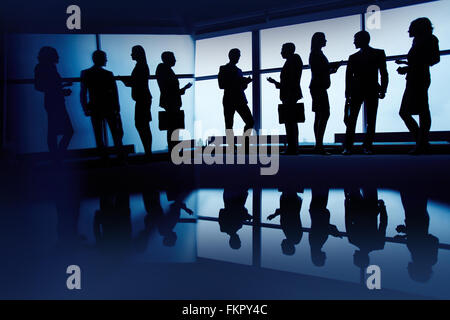 Business people cooperating in office
